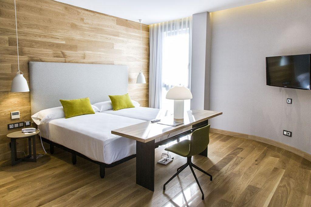 Cómodas, espaciosas y con mucha luz así son las habitaciones en Zenit San Sebastián ****