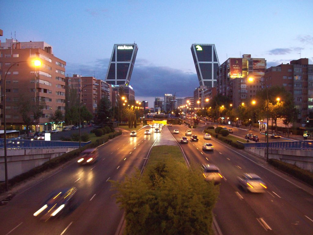 Paseo Castellana Madrid