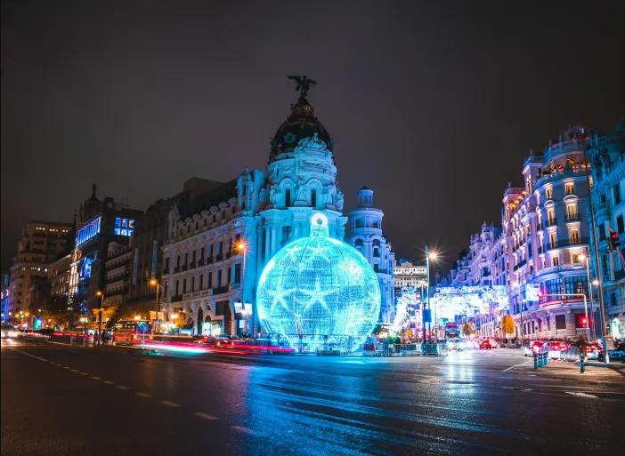 alumbrado navideño en Madrid